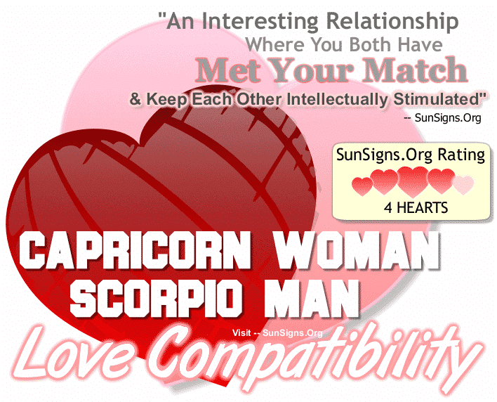 Capricorn Woman Scorpio Man Love Compatibility